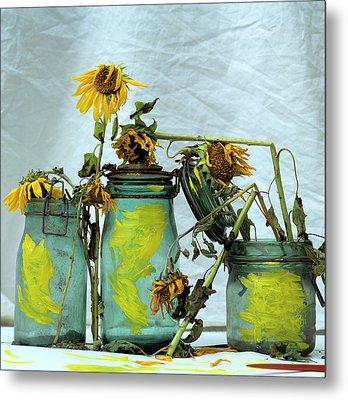 Sunflowers Metal Print by Bernard Jaubert