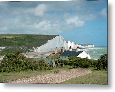 Sunlight On The Seven Sisters Metal Print by Donald Davis