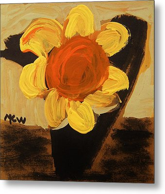 Sunny And Black Metal Print by Mary Carol Williams