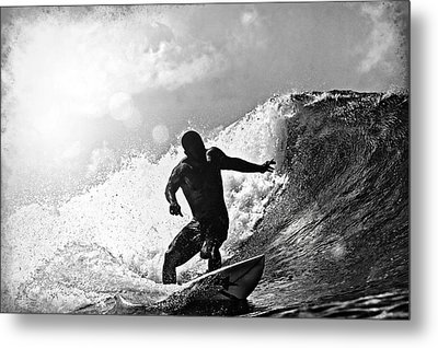 Sunny Garcia In Black And White Metal Print