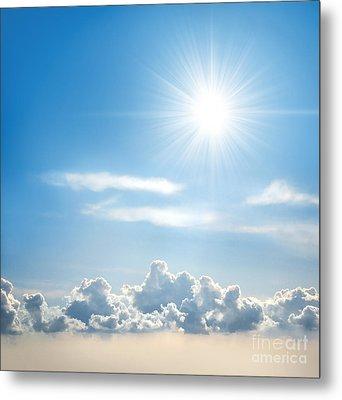 Sunny Sky Metal Print by Carlos Caetano
