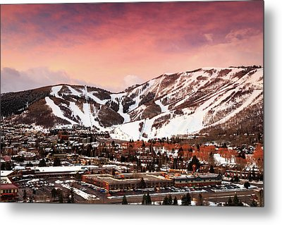 Metal Print featuring the photograph Sunrise Above Park City Mountain, Utah. by Johnny Adolphson