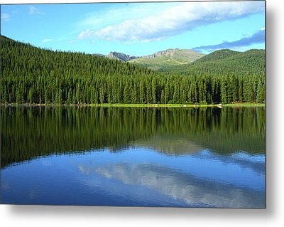 Metal Print featuring the photograph Sunrise At Echo Lake by Marie Leslie