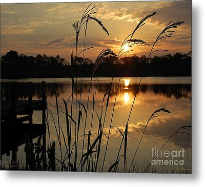 Sunrise At Grayton Beach Metal Print