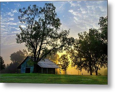 Sunrise At The Farm Metal Print by George Randy Bass