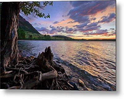 Metal Print featuring the photograph Sunrise At Waterton Lakes by Dan Jurak