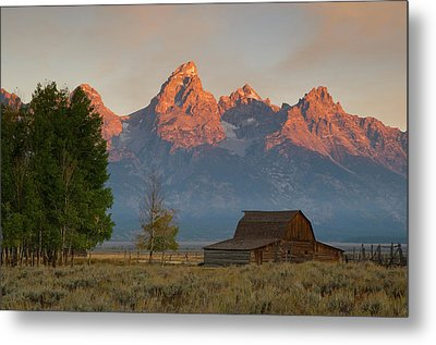 Sunrise In Jackson Hole Metal Print by Steve Stuller