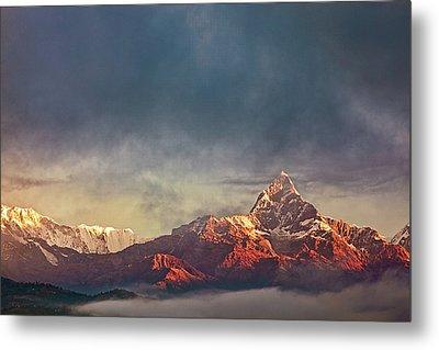 Sunrise On Anapurna Metal Print by Stefan Nielsen