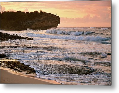 Sunrise On Shipwreck Beach Metal Print by Marie Hicks