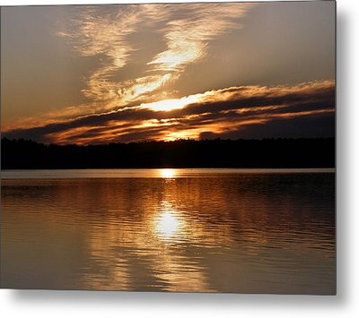 Sunrise On The Turtle Flambeau Flowage Metal Print