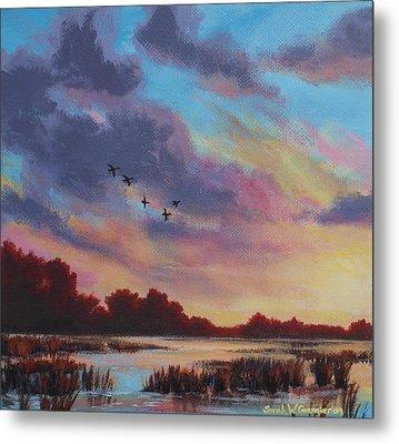 Sunrise Over The Marsh Metal Print