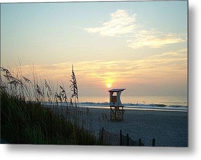 Sunrise Over Wrightsville Beach Metal Print