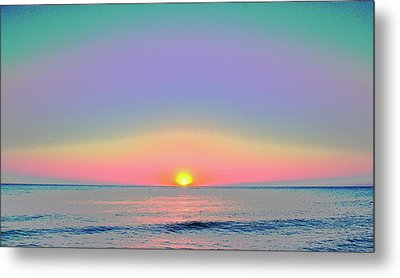 Sunrise With Digits Metal Print by Cloe Couturier