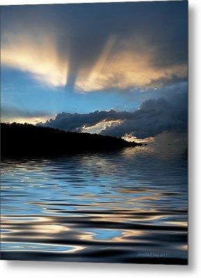 Sunset And Sun Rays Metal Print