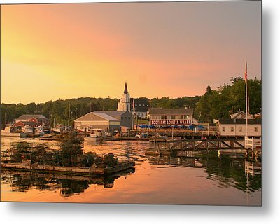Sunset At Boothbay Harbor Metal Print