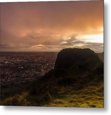 Sunset At Cavehill Metal Print
