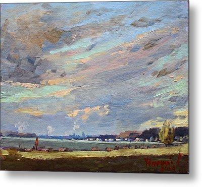 Sunset At Gratwick Waterfront Park Metal Print by Ylli Haruni