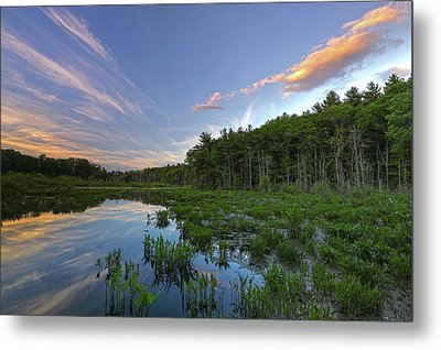 Metal Print featuring the photograph Sunset At Mass Audubon's Broadmoor Wildlife Sanctuary by Juergen Roth
