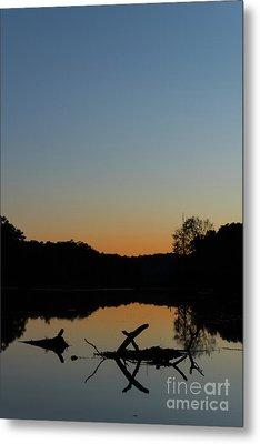 Sunset At Paulinskill Lake Metal Print by Nicki McManus