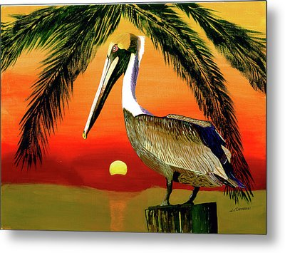 Sunset At The Beach Metal Print by William Demboski