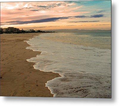 Metal Print featuring the photograph Sunset Beach by Riana Van Staden