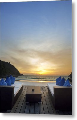 Sunset Beach Metal Print by Setsiri Silapasuwanchai