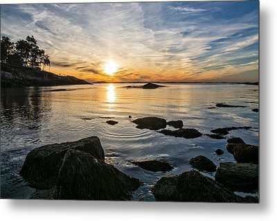 Sunset Cove Gloucester Metal Print by Michael Hubley