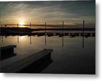 Sunset Docks Metal Print by Justin Johnson