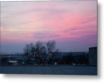 Sunset From Liberty Memorial Metal Print