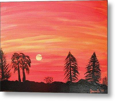 Sunset Glow Metal Print by Jeannie Atwater Jordan Allen
