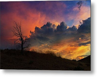 Sunset In Central Oregon Metal Print by David Gn