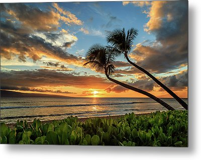 Metal Print featuring the photograph Sunset In Kaanapali by James Eddy