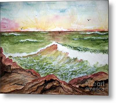 Sunset In Pink Metal Print by Carol Grimes