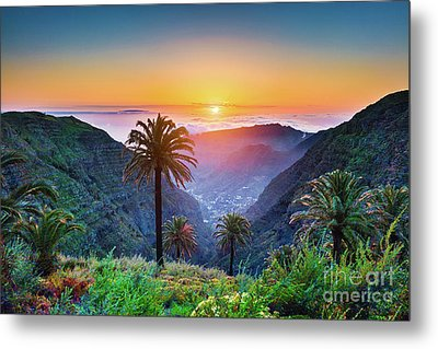 Sunset In The Canary Islands Metal Print by JR Photography