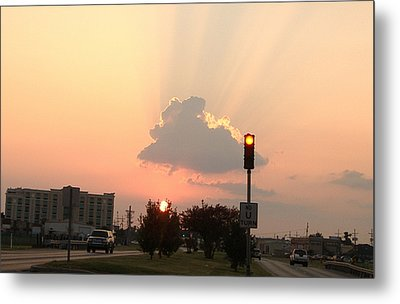 Sunset In The City 3 Metal Print by Diane Ferguson