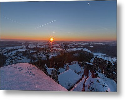 sunset in the Southern Harz Metal Print