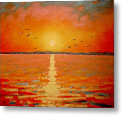 Sunset Metal Print by John  Nolan