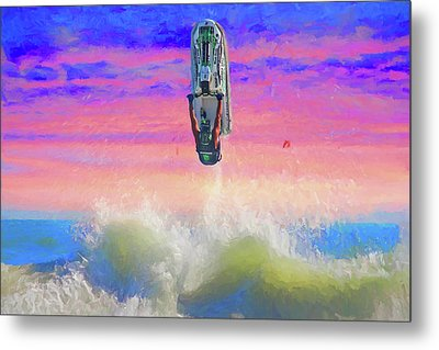 Sunset Jumper Metal Print by Alice Gipson