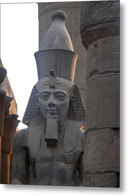 Sunset On Ramesses The Great Metal Print by Richard Deurer