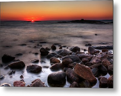 Sunset On The Rocks Metal Print by Brian Boudreau