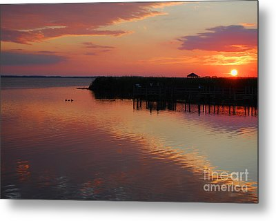 Sunset On The Sound Metal Print