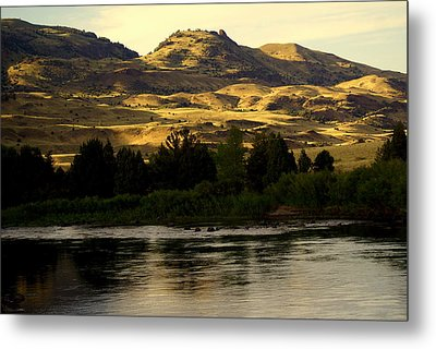 Sunset On The Yellowstone Metal Print by Marty Koch