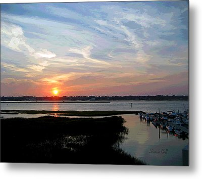 Sunset Over Murrells Inlet II Metal Print by Suzanne Gaff