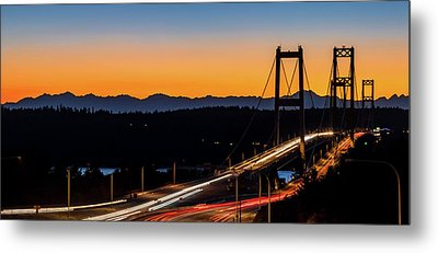 Sunset Over Narrrows Bridge Panorama Metal Print