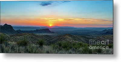 Sunset Over Santa Elena Canyon Metal Print by Tod and Cynthia Grubbs