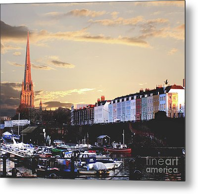 Metal Print featuring the photograph Sunset Over St Mary Redcliffe Bristol by Terri Waters