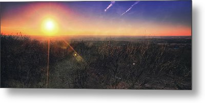 Sunset Over Wisconsin Treetops At Lapham Peak  Metal Print by Jennifer Rondinelli Reilly - Fine Art Photography