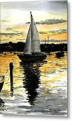Sunset Ride Metal Print by Paul Gardner