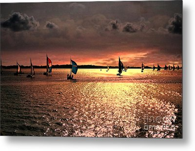 Sunset Sail - Bermuda Metal Print