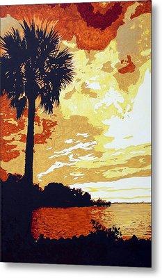 Sunset  Metal Print by Sheri Buchheit